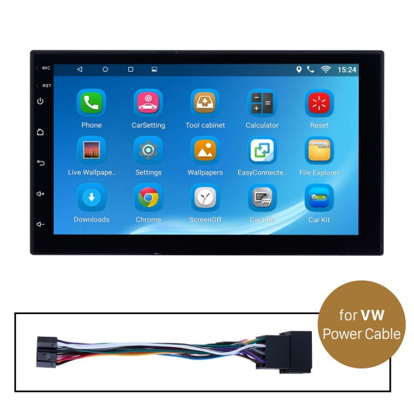 Car Radio Stereo Head Unit Power Cables For VW Volkswagen For Model H605E