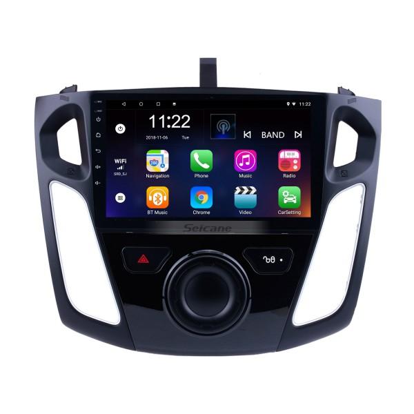 9 pouces Android 10.0 GPS Navigation HD 1024 * 600 de radio à écran tactile pour 2011 2012-2015 Ford Focus avec Bluetooth WIFI 1080P lien miroir lien OBD2 DVR commande au volant
