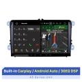 9 pouces 2 din HD écran tactile Android 10.0 Radio stéréo système de navigation GPS pour 2003-2012 VW Volkswagen Passat Golf Jetta avec USB OBD2 Bluetooth musique Wifi