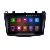 9 pouces Android 11.0 Autoradio Stereo pour 2009 2010 2011 2012 MAZDA 3 Système de radionavigation GPS avec Bluetooth Mirror link HD écran tactile OBD DVR Caméra de recul TV USB 3G WIFI