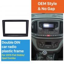 173 * 98mm 2Din Radio Car Fascia pour 2015 Fiat Doblo Opel Combo Support tableau de bord Audio Car Cover radoub cadre dvd