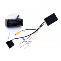 Top RGB to AV CVBS Signal Converter Adapter Box for OEM Factory Rearview Backup Camera for VW Volkswagen Passat