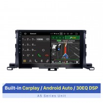 10,1 pouces Android 10.0 système de navigation GPS pour 2015 Toyota Highlander Bluetooth à écran tactile support radio TPMS DVR OBD caméra de recul TV vidéo 3G WiFi