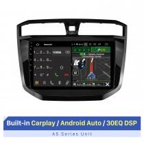 10,1 pouces Android 10.0 Navigation GPS universelle Système audio de voiture Bluetooth Carplay intégré Android Auto 4G WiFi Caméra de recul DVR DAB + Commande au volant