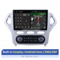 10,1 pouces Android 10.0 pour Ford Mondeo Auto A / C 2007-2010 Radio Système de navigation GPS avec écran tactile HD Prise en charge Bluetooth Carplay OBD2