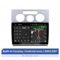 10,1 pouces Android 10.0 pour 2004-2008 Volkswagen Touran Auto A / C Radio Système de navigation GPS avec écran tactile HD Prise en charge Bluetooth Carplay OBD2