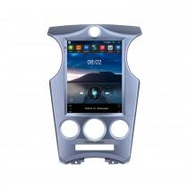 2007-2012 Kia Carens Manuel A/C 9,7 pouces Android 10.0 Radio de navigation GPS avec écran tactile Bluetooth USB WIFI Prise en charge Carplay Mirror Link 4G