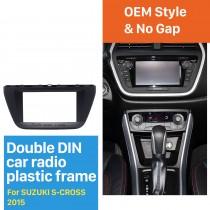 173 * 98mm Double Din 2015 Suzuki S-cross Radio Car Fascia lecteur audio stéréo Cadre Panneau de CD Garniture