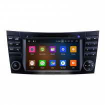 7 pouces Android 9.0 Radio de navigation GPS 2002-2008 Mercedes Benz W211 Bluetooth HD Écran tactile AUX WIFI Carplay support Caméra de recul