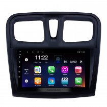 9 pouces Android 10.0 Radio de navigation GPS pour 2012-2017 Renault Sandero avec support écran tactile Bluetooth USB HD Carplay DVR OBD