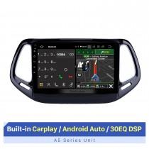 Android 10.0 Navigation GPS pour 2017 Jeep Compass 10,1 pouces HD Écran tactile Radio multimédia Bluetooth Musique MP5 WIFI Prise en charge USB 4G Carplay SWC OBD2 Vue arrière