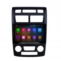 2007-2017 Kia Sportage Manuel A / C Android 11.0 Radio de navigation GPS 9 pouces Bluetooth Bluetooth HD à écran tactile USB Support de musique Carplay Support de commande au volant