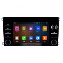 7 pouces Android 9.0 HD écran tactile 2003-2011 Porsche Cayenne Radio de navigation GPS avec WiFi Bluetooth Carplay Mirror Link support OBD2 Caméra de recul DVR 1080P