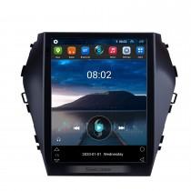2015 2016 2017 Hyundai Santafe IX45 9.7 pouces HD écran tactile Android 10.0 Radio Navigation GPS Bluetooth FM AUX WIFI Lien miroir prise en charge Caméra de recul TV numérique OBD2 DVD TPMS