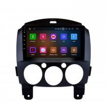 9 pouces HD Système de navigation GPS à écran tactile Android 11.0 Radio pour 2007-2014 Mazda 2 Support Vedio Carplay Télécommande Bluetooth 4G WIFI Lecteur DVD