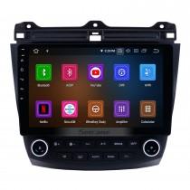 10,1 pouces Android 11.0 2003-2007 Honda Accord 7 Radio Système de navigation GPS Bluetooth avec caméra de recul 3G WiFi Lien miroir OBD2 1080P Contrôle vidéo au volant