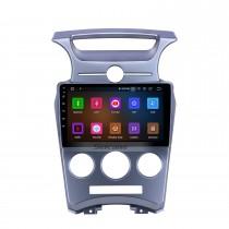 9 pouces 2007-2012 Kia Carens Manuel A / C Android 11.0 Radio de navigation GPS Écran tactile Bluetooth Prise en charge de la prise en charge OBD2 DAB + Vidéo 1080p