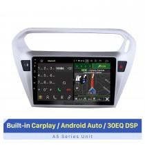 9 pouces 2013 2014 Peugeot 301 Citroen Elysee C-Elysee Android 10.0 Radio GPS HD 1024 * 600 Écran tactile 4G WIFI Volant OBD2 RDS Contrôle Bluetooth