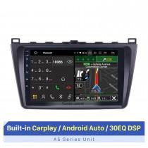 Android 10.0 2008-2015 Mazda 6 Rui Wing Radio Système de navigation GPS avec écran tactile HD 1024 * 600 Bluetooth TPMS OBD DVR Caméra de recul TV USB 3G WIFI CPU Quad Core