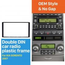 173 * 98mm Double Din 2007 KIA SORENTO Car Radio Fascia Dash cadre Support voiture Réaménagement DVD Autostereo Adaptateur