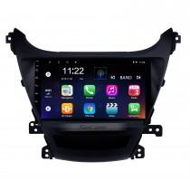 9 pouces 2014 2015 2016 Hyundai Elantra Auto radio GPS Navigation Bluetooth Écran tactile Voiture Stéréo Tuner TV Caméra de recul AUX iPod Android
