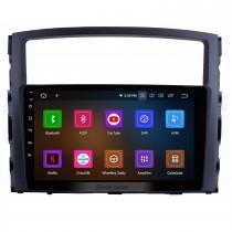 9 pouces Android 11.0 HD Système de navigation GPS Radio à écran tactile pour 2006-2017 MITSUBISHI PAJERO V97 / V93 Support Bluetooth USB 3G / 4G WIFI OBD2 Mirror Link Caméra de recul
