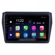 OEM 9 pouces Android 10.0 HD Radio tactile Bluetooth pour 2017-2019 SUZUKI Swift avec navigation GPS USB FM auto stéréo Wifi support DVR TPMS Caméra de recul OBD2 SWC