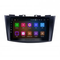 Android 11.0 Radio Système de navigation GPS pour 2011 2012 2013 Suzuki Swift Ertiga avec lien miroir Écran tactile DVR Caméra de recul TV USB SD WIFI Contrôle du volant 8 cœurs CPU HD 1080P Vidéo OBD2 Bluetooth
