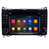7 pouces Android 9.0 Radio de navigation GPS pour 2004-2012 Mercedes Benz Classe A W169 A150 A160 A170 avec support Bluetooth Carplay Bluetooth HD à écran tactile WIFI USB