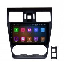 Écran tactile capacitif radio 9 pouces HD Android 11.0 pour 2014 2015 2016 Subaru Forester Support 3G WiFi Bluetooth Système de navigation GPS TPMS DAB DVR OBD II AUX Appui-tête Contrôle du moniteur Vidéo Caméra arrière USB SD