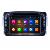 7 pouces Android 9.0 Radio de navigation GPS pour 1998-2006 Mercedes Benz Classe CLK W209 / Classe G W463 avec écran tactile HD Support Bluetooth Carplay DAB + DVR