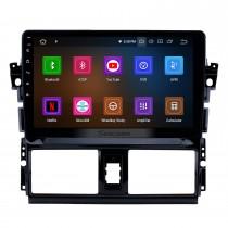 10,1 pouces Android 11.0 2013 2014 2015 2016 Toyota Vios GPS Radio avec 1024 * 600 Écran tactile Bluetooth Musique 4G WiFi Caméra de recul Lien Lien OBD2 Contrôle au volant