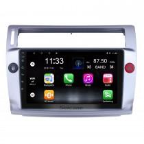 Pour 2009 Citroen Old C-Quatre Radio 9 pouces Android 10.0 HD Système de navigation GPS à écran tactile avec prise en charge Bluetooth Carplay