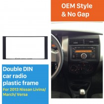 173 * 98mm Double Din 2013 Nissan Livina Mars Versa Car Radio Panel Fascia Cadre CD stéréo Version Auto Adapter