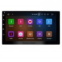 Aftermarket Android 11.0 Système de navigation GPS pour la mise à niveau de la radio universelle avec Bluetooth Musique Lecteur DVD Stéréo de voiture Écran tactile WiFi Lien miroir OBD2 Commande au volant
