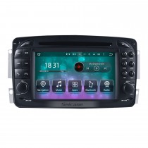 1998-2004 Mercedes-Benz CLK-C209 CLK200 CLK320 CLK430 Radio Lecteur DVD Android 10.0 Système de navigation GPS Écran tactile TV Caméra de recul commande au volant USB SD Bluetooth WiFi HD 1080P Vidéo