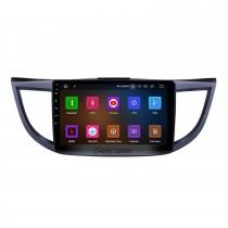 10,1 Pouces 2011-2015 Honda CRV version haute avec écran Android 11.0 Radio Système de navigation GPS 3G WiFi Écran tactile capacitif TPMS DVR OBD II Caméra arrière AUX Commande au volant USB SD Bluetooth HD 1080P Vidéo