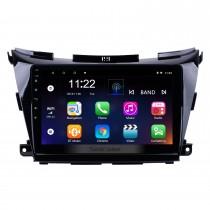 10.1 pouces HD 1024 * 600 Écran tactile 2015 2016 2017 Nissan Murano Android 10.0 Système de navigation GPS avec caméra arrière OBDII AUX Commande au volant USB 1080P 3G WiFi Lien miroir capacitif TPMS DVR Bluetooth