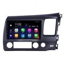2006-2011 Honda Civic RHD 9 pouces Android 8.1 HD à écran tactile Bluetooth Navigation GPS Navigation USB prise en charge AUX AUX Carplay 3G WIFI Mirror Link TPMS