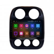 10,1 pouces Android 11.0 1024 * 600 Écran tactile 2014 2015 Jeep Compass Radio Bluetooth Système de navigation GPS avec OBD2 DVR 4G WIFI Commande de volant de recul Caméra de recul Lien Miroir