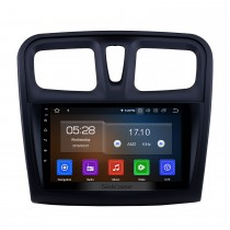 Écran tactile HD 2012-2017 Renault Sandero Android 9.0 Radio de navigation GPS 9 pouces avec Bluetooth Support de Carplay DAB + OBD2
