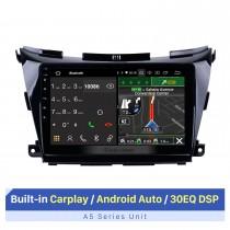 10,1 pouces pour 2015 2016 2017 Nissan Murano Android 10.0 HD Radio à écran tactile Système de navigation GPS Prise en charge Bluetooth 3G / 4G WIFI OBD2 USB Lien miroir Commande au volant