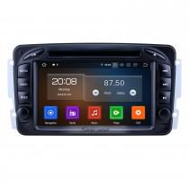 7 pouces Android 10.0 HD Radio de navigation GPS à écran tactile pour 1998-2006 Mercedes Benz Classe CLK W209 / Classe G W463 avec prise en charge Bluetooth Carplay Vidéo 1080P