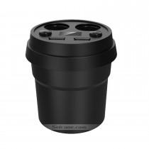 Double chargeur USB Chargeur de voiture cylindrique avec double allume-cigare Interface Affichage numérique haute définition