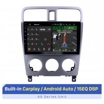 Écran tactile HD de 9 pouces pour Subaru Forester 2004-2008 Autoradio stéréo AC autoradio Bluetooth avec support GPS Affichage à écran partagé