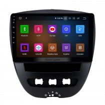 10,1 pouces Android 11.0 Radio de navigation GPS pour 2005-2014 Peugeot 107 Bluetooth Wifi HD Écran tactile Carplay prise en charge DAB + OBD2 Mirror Link