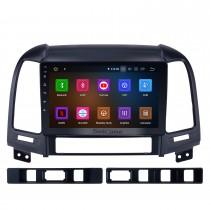 2006-2012 Hyundai SANTA FE Aftermarket Android 11.0 HD 1024 * 600 système de navigation à écran tactile Radio Bluetooth OBD2 DVR Caméra de recul TV 1080P Vidéo 4G WIFI Commande au volant GPS USB Lien miroir Lecteur DVD
