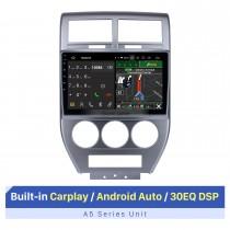 Écran tactile HD de 10,1 pouces pour 2007-2009 Jeep Compass GPS Navi voiture Navigation GPS Stéréo Carplay Support caméra AHD
