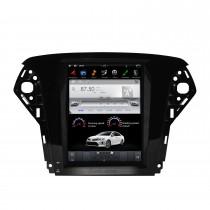 10,4 pouces Android 9.0 lecteur multimédia de voiture stéréo Sat pour 2007-2012 système de navigation GPS FORD Mondeo avec support Bluetooth Carplay