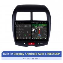 10,1 pouces HD Radio à écran tactile Android 10.0 pour 2010-2012 2013-2015 Mitsubishi ASX Système de navigation GPS stéréo pour voiture Bluetooth Téléphone WIFI Prise en charge OBDII DVR Commande au volant USB
